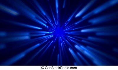blauwe , ruimte, straal, akker, licht, ster