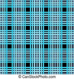 blauwe , ruitjes, eps10, weefsel, pattern., grayish, seamless, textuur, donker, tartan, checkered, black , afdrukken, bleek, marine, blauwe
