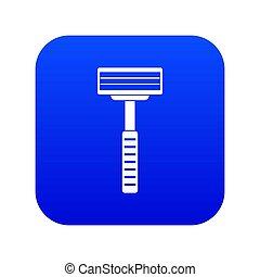 blauwe , scheermes, pictogram, digitale
