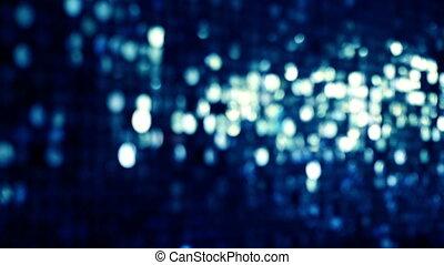 blauwe , schitteren, en, glanzend, bokeh, lichten, achtergrond., abstract, sparkles.