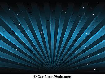 blauwe , schitteren, vector, stralen