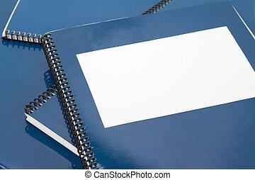 blauwe , schoolboek, school