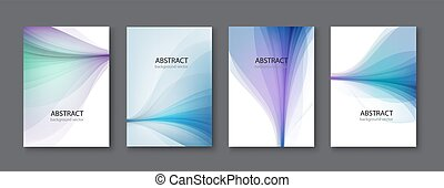 blauwe , set, illustration., abstract, achtergrond., vector, lijn