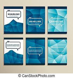 blauwe , set, verf, abstract, vector, achtergrond
