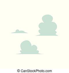 blauwe , set, wolken, abstract, hemel, vector, pictogram