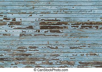 blauwe , siding, hout, oud