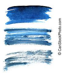 blauwe , slagen, anders, set, borstel