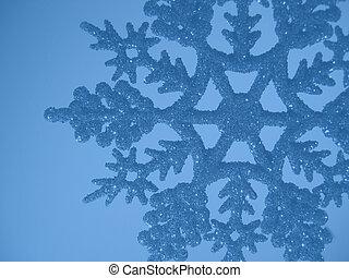 blauwe , sneeuwvlok, achtergrond