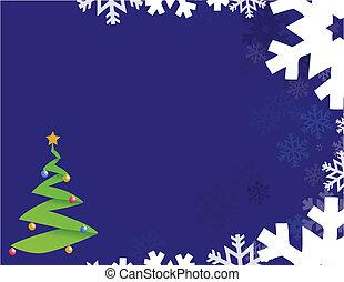 blauwe , snowflakes, achtergrond