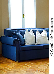 blauwe sofa, 2, hoek