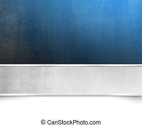 blauwe , spandoek, achtergrond, textuur