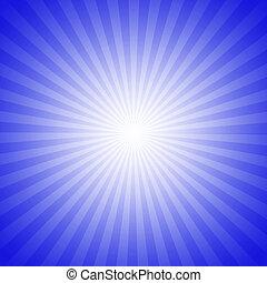 blauwe , starburst, effect, achtergrond