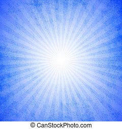 blauwe , starburst, grunge, effect, achtergrond