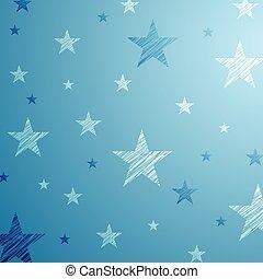 blauwe , starry, helder, achtergrond