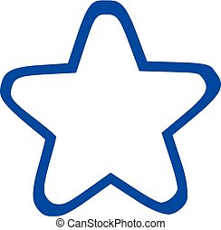 blauwe ster, grens