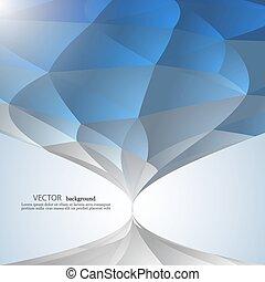 blauwe , stijl, grafisch, rumpled, abstract, driehoekig, poly, laag, achtergrond, geometrisch