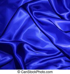 blauwe stof, textuur, achtergrond., vector, satijn
