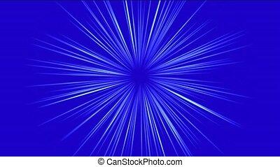 blauwe , stralen, licht, en, vezel optisch