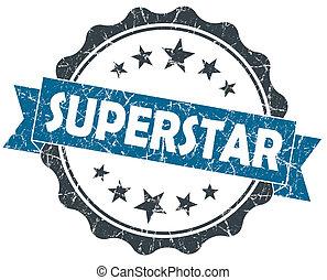 blauwe , superstar, ouderwetse , vrijstaand, zeehondje, grunge, witte