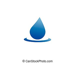 blauwe , symbolen, set, abstract, water, mal, logo, druppels
