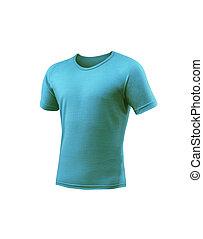 blauwe t-shirt, witte , vrijstaand, achtergrond