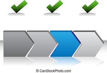blauwe , tabel, richtingwijzer