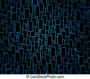 blauwe , techno, achtergrond