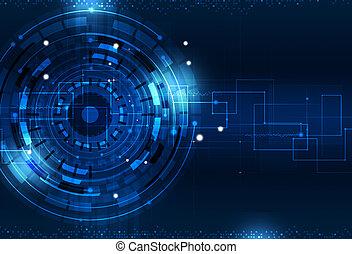 blauwe , technologie, achtergrond, digitale