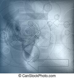 blauwe , technologie, achtergrond