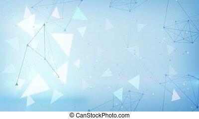 blauwe , technologie, driehoeken, loopable