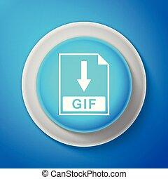 blauwe , teken., lijn., knoop, vrijstaand, illustratie, achtergrond., vector, bestand, downloaden, cirkel, document, witte , pictogram