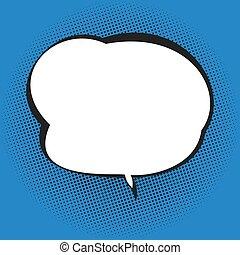 blauwe , tekstballonetje, achtergrond