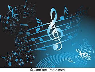 blauwe , thema, muziek