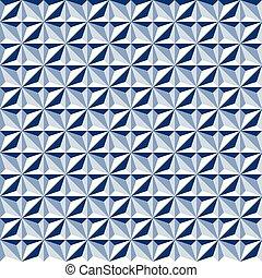blauwe tonen, model, abstract, seamless, achtergrond, geometrisch