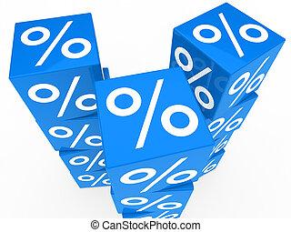 blauwe , toren, blokje, verkoop