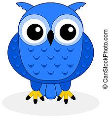 blauwe , uil