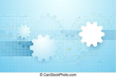 blauwe uitdossing, abstract, lijnen, achtergrond, geometrisch, wiel