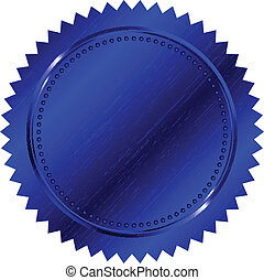 blauwe , vector, illustratie, zeehondje