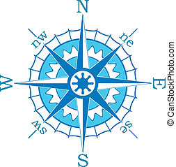 blauwe , vector, kompas