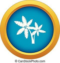blauwe , vector, palma, vrijstaand, pictogram