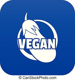 blauwe , vector, vegan, pictogram