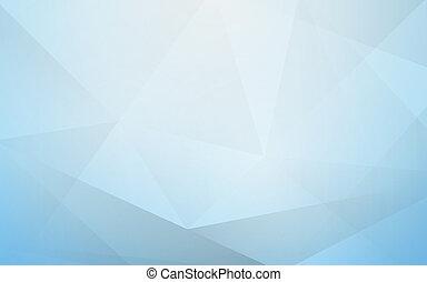 blauwe , veelhoek, abstract, achtergrond, geometrisch, zacht