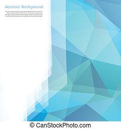 blauwe , veelhoek, abstract, achtergrond., vector, kaart