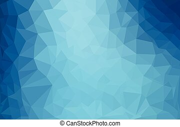blauwe , veelhoek, abstract, elegant, vector, laag, achtergrond