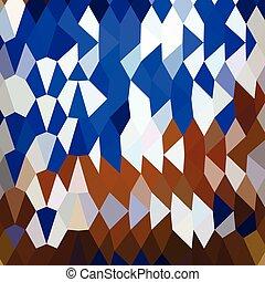 blauwe , veelhoek, abstract, laag, achtergrond, marine