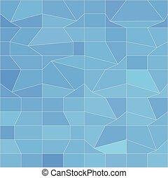 blauwe , veelhoek, abstract, laag, achtergrond, mozaïek