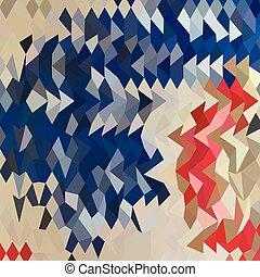 blauwe , veelhoek, abstract, laag, achtergrond, spaanse