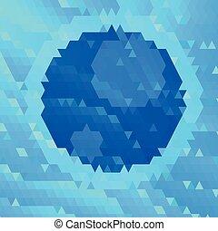 blauwe , veelhoek, achtergrond, maan