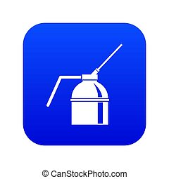 blauwe verf, nevel kun, digitale , pictogram