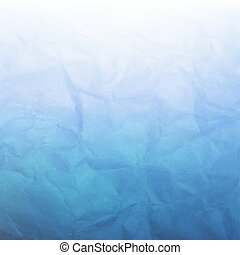blauwe , verfrommeld papier